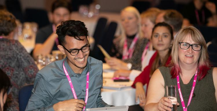 Healthwatch staff at a training event