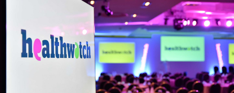 Healthwatch conference slide