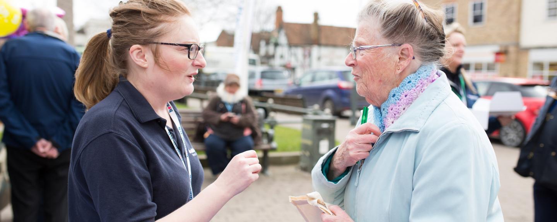 local women talking to healthwatch