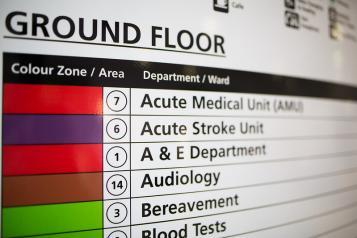 NHS Hospital Sign