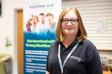 Healthwatch member of staff smiling