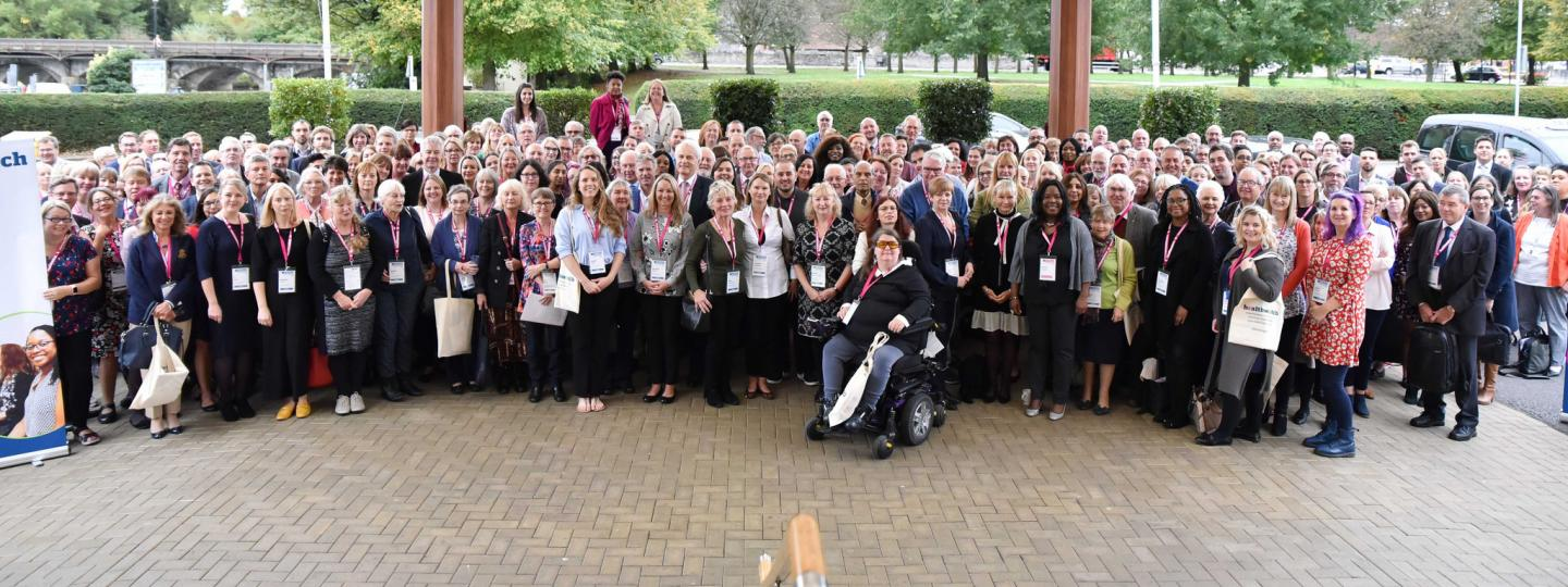 Big group photograph of Healthwatch colleagues at a previous conference