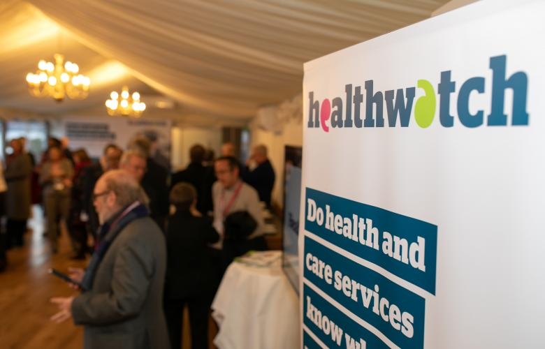 Healthwatch at event